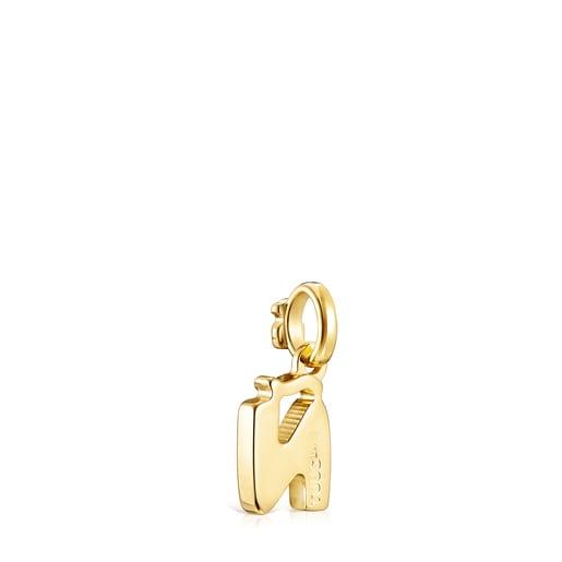 Alphabet-Anhänger Ñ aus Vermeil-Gold
