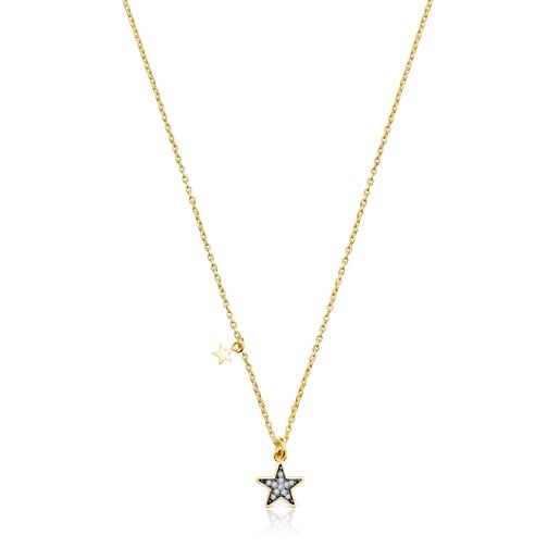 Silver Vermeil Nocturne Necklace with Diamond star