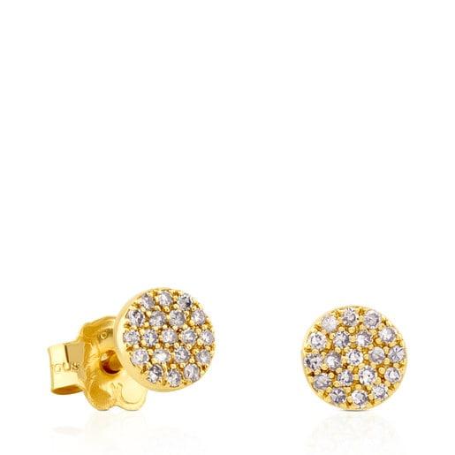 Aretes Gem Power de Oro con Diamantes