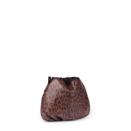 Mini terracotta leather Bridgy Exotic bucket bag