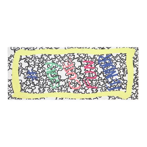 Κίτρινο - Μπλε Φουλάρι Stay Cute