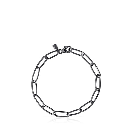 Pulsera TOUS Chain oval de Plata Dark Silver
