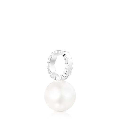 Colgante Straight de plata y perla