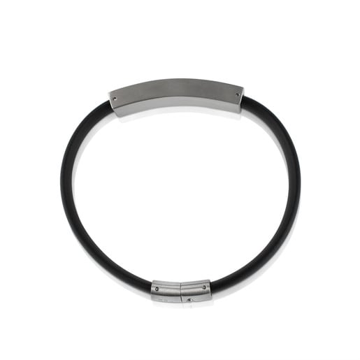 Stainless Steel TOUS Man Bracelet with carbon filter