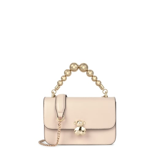 Small beige Audree Sketx crossbody bag