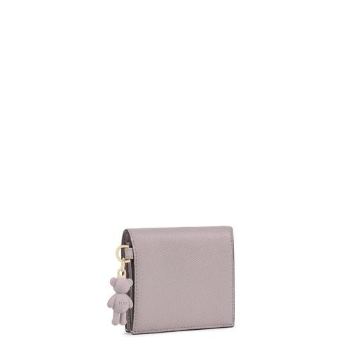 Small mauve colored TOUS Pop Wallet