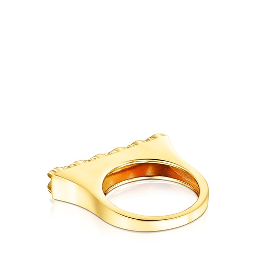 Silver Vermeil Straight Ring