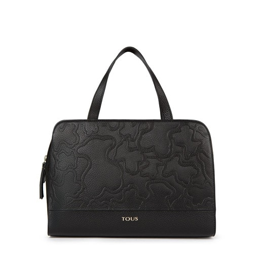 Black colored Leather Lake Bowling bag