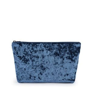 Medium blue Velvet Kaos Shock Handbag