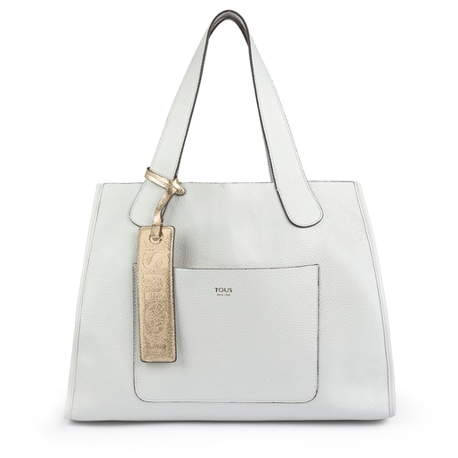 Large white Leather Leissa Tote bag