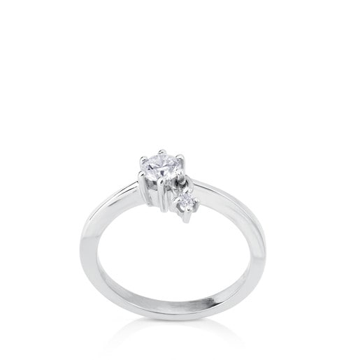 White Gold TOUS Les Classiques Ring with Diamond 0.29ct
