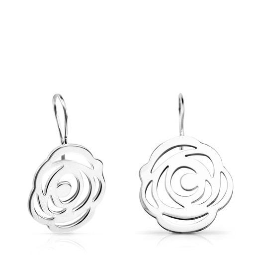 Silver Rosa de Abril Earrings