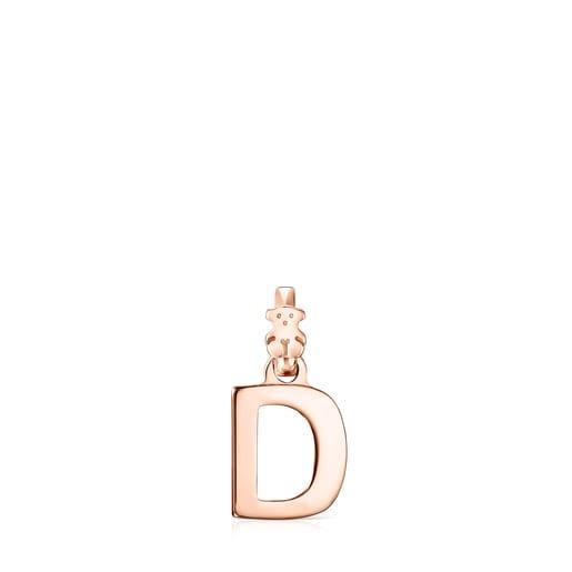 Alphabet-Anhänger D aus Vermeil-Roségold