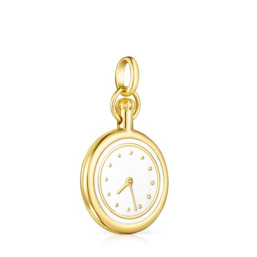 Dije Job reloj de Plata Vermeil