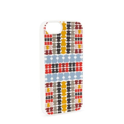 Funda iPhone 6S/7/8 Tartan Rubber jeans-rojo
