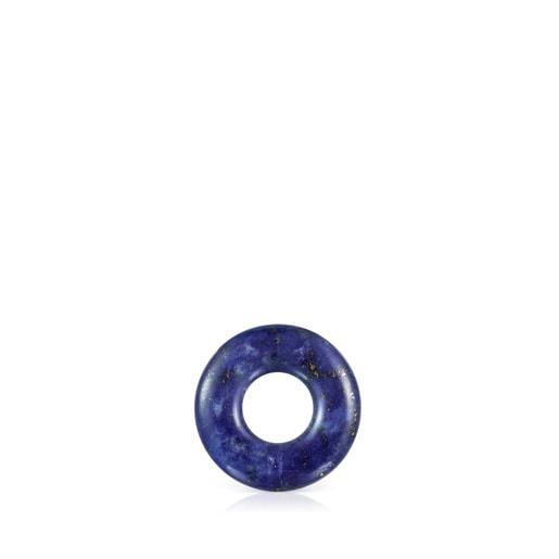Argola pequena Hold Gems em Lazulite e Prata