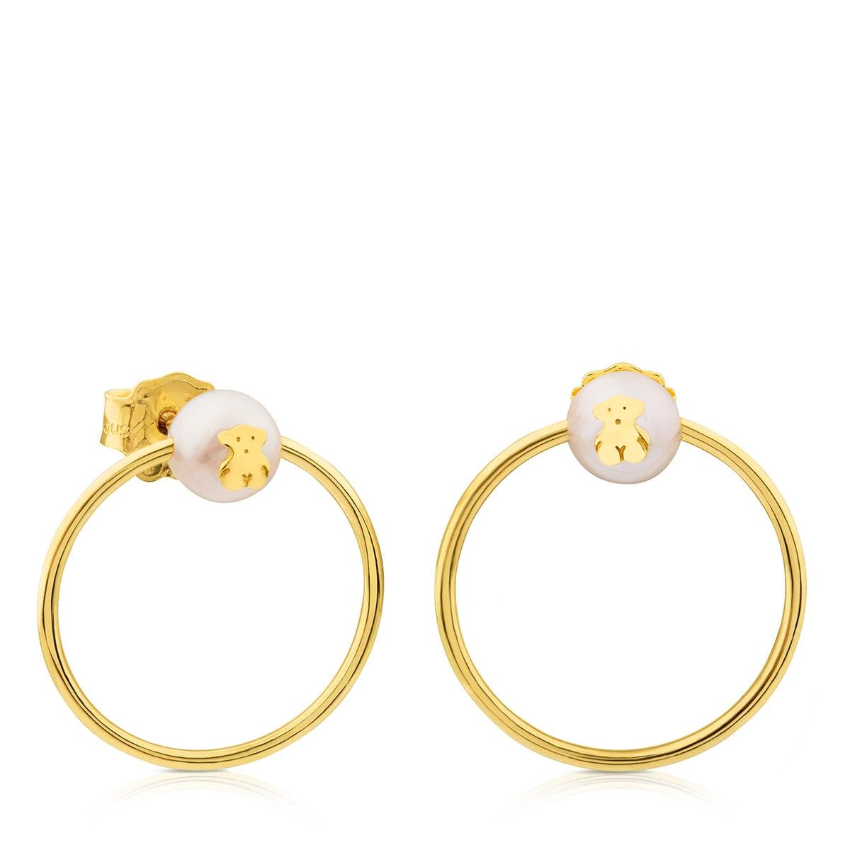 b0e84264237a Pendientes Icon de Oro con Perla - Sitio web Tous España