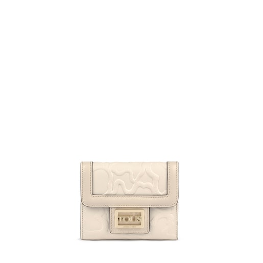 Small beige Leather TOUS Icon Wallet