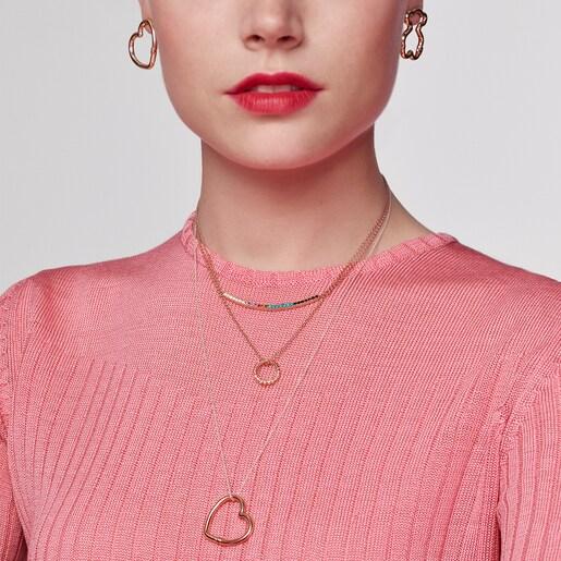 Medium 50cm Rose Silver Vermeil Hand Chain.