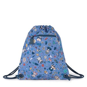 Small flat blue Nylon School Playground Backpack