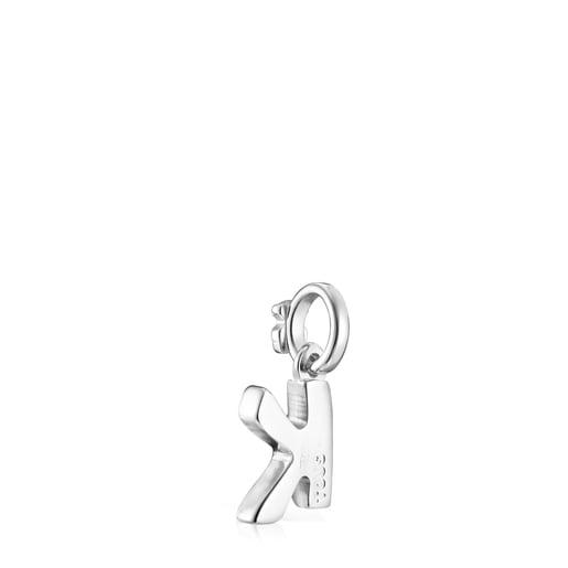 Pingente Alphabet letra K em Prata