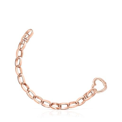 Set Hold Pulsera - Collar de Plata Vermeil rosa y Cuero