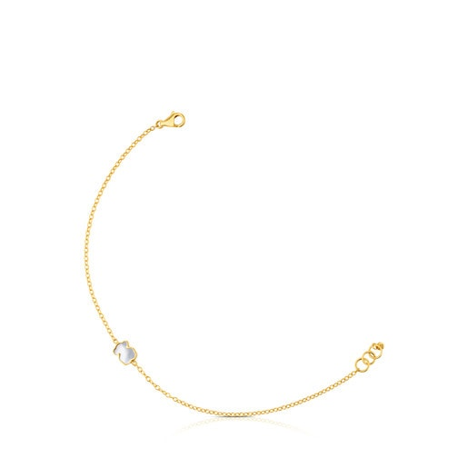 Gold and Mother-of-pearl XXS bear Bracelet