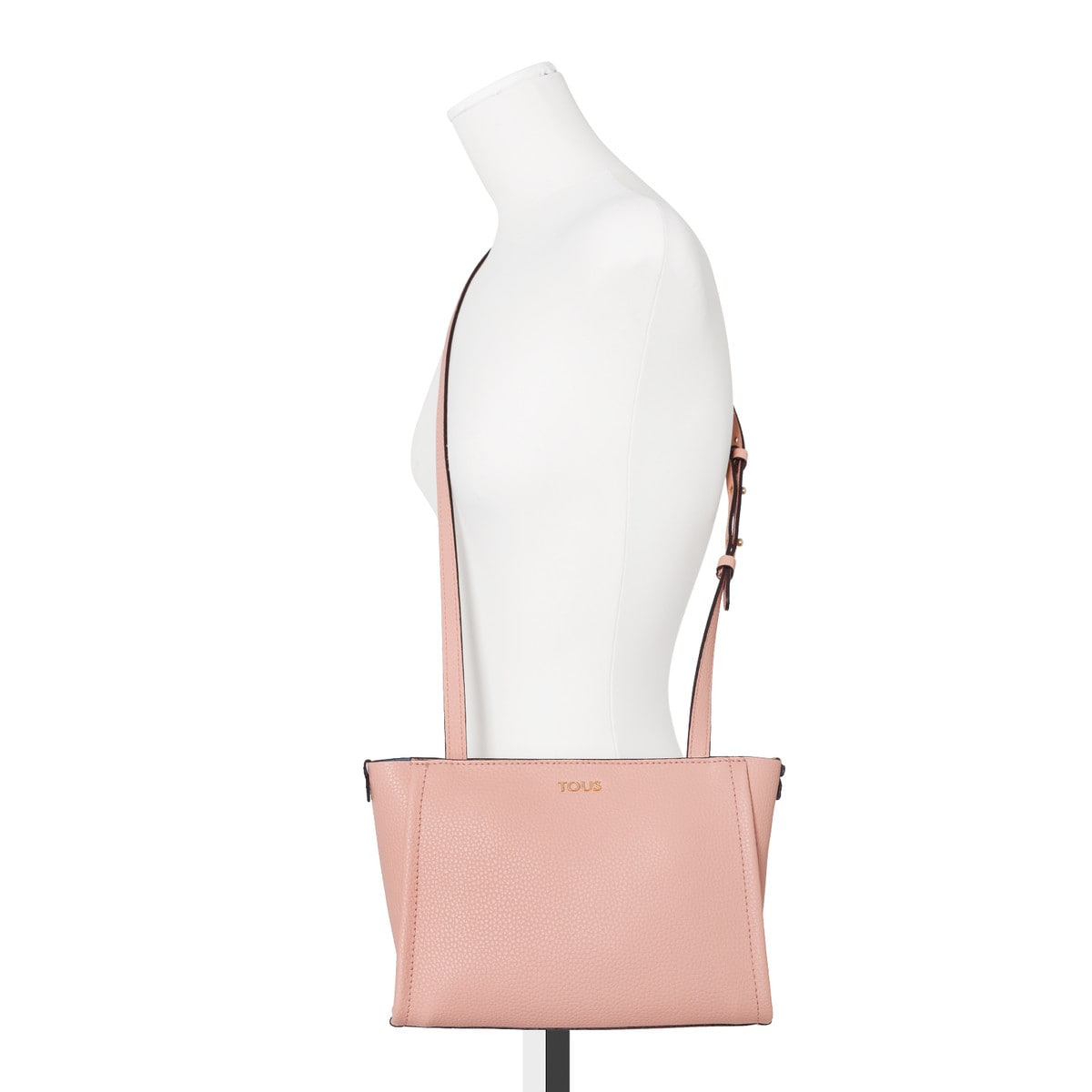 Pink-blue Leather Floriana Crossbody bag