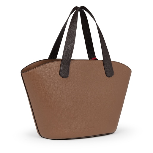 Large brown Leather Leissa Shopping bag