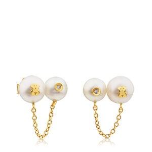 Arracades Icon d'Or amb Perla i Diamant