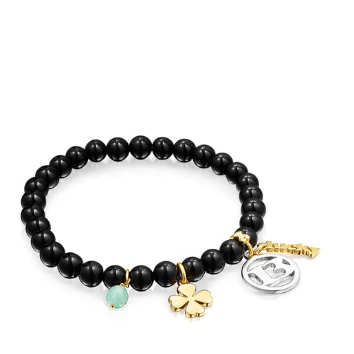 Silver and Silver Vermeil TOUS Good Vibes 13 Bracelet with Shungites