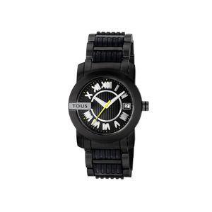 Rellotge Oto Round d'acer anoditzat negre