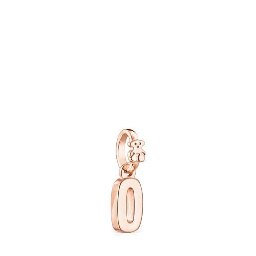 Pingente Numbers número 0 em Prata Vermeil rosa