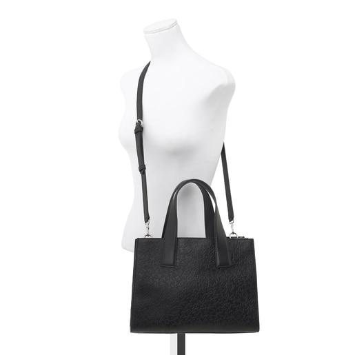 Black leather Sira city bag