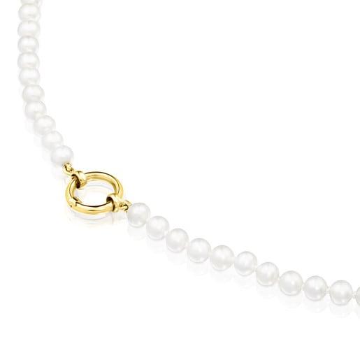 Collar Hold de Perlas y Oro