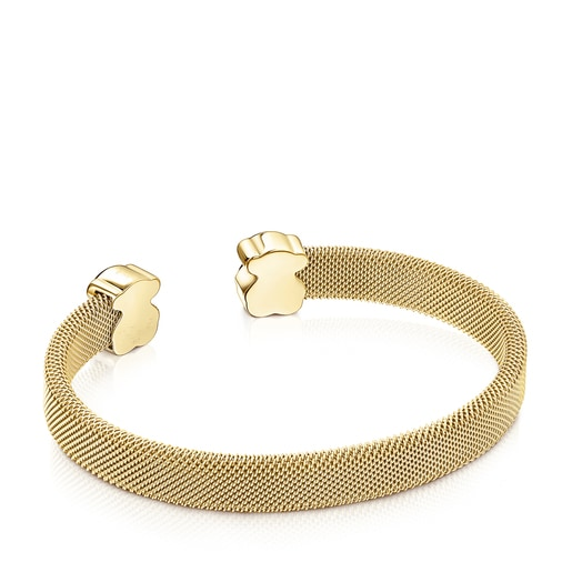 Armband Mesh Color aus IP-Stahl in Gold mit Malachit