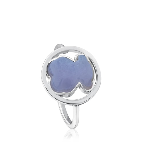 Silver Camille Ring with Chalcedony