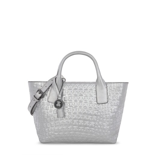 Silver leather Sherton tote bag