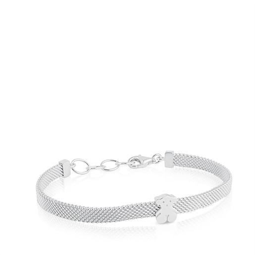 Mesh Silver Bear Bracelet