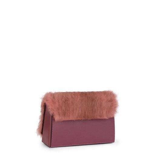 Bandolera pequeña Rossie Warm de Piel rosa