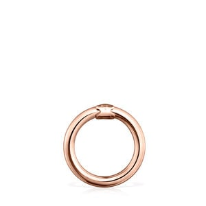 Medium Rose Vermeil Silver Hold Ring