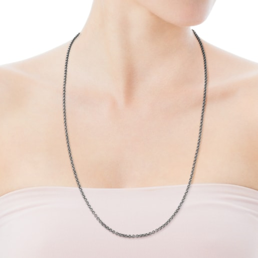 Μακριά Αλυσίδα TOUS Chain από Οξειδωμένο Ασήμι