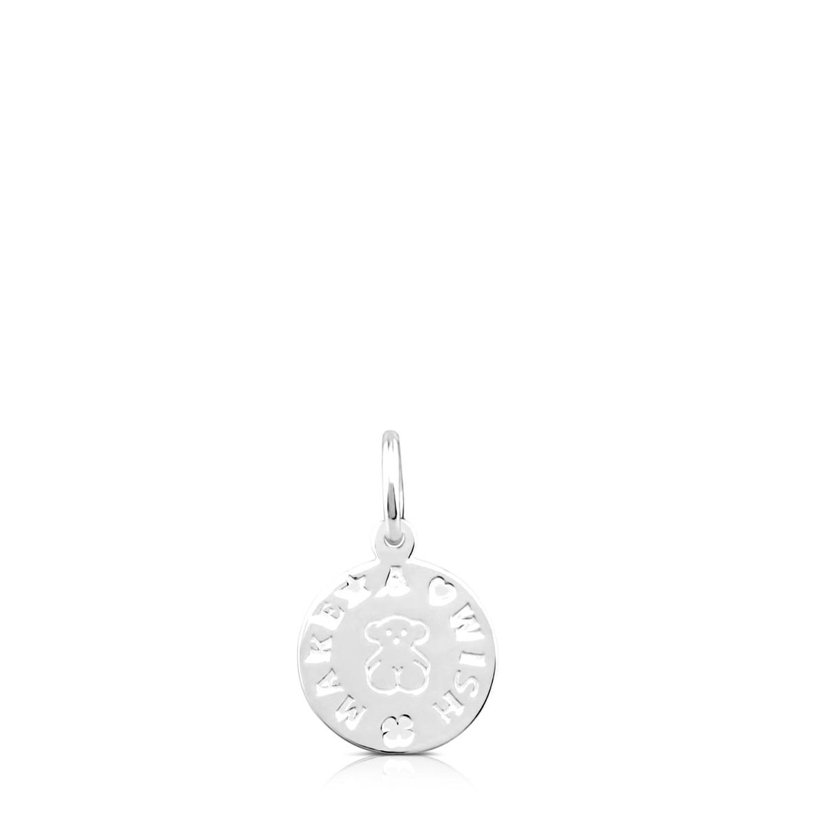 Colgante Toussi medalla oso de plata