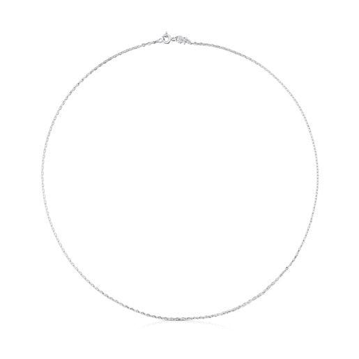 Gargantilla TOUS Chain de oro blanco con anillas ovales, 45cm.