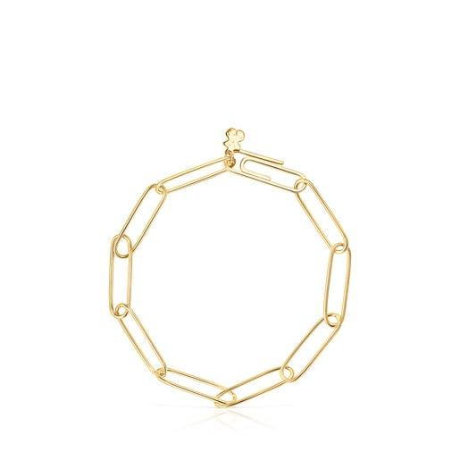 Bracelet TOUS Chain clip en Argent Vermeil