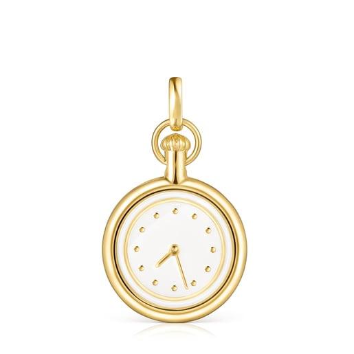 Μενταγιόν-ρολόι Job από Ασήμι Vermeil