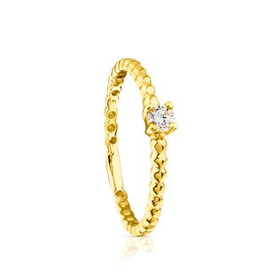 Gold TOUS Brillants Ring with Diamond