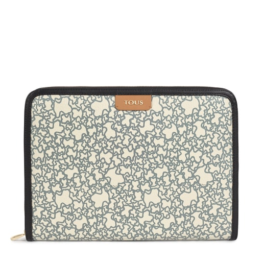 Document holder Kaos Mini beige y negro