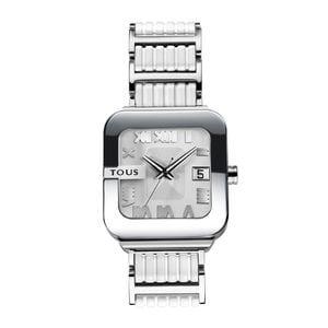 Rellotge Oto d'acer amb corretja de silicona blanca