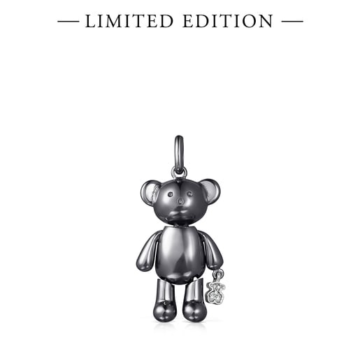 Dije mediano Teddy Bear de Titanio y Diamantes - Edición limitada
